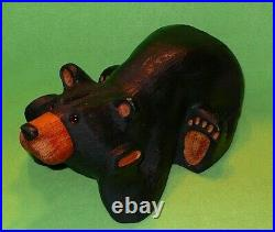 Original BIG SKY BEARS by Jeff Fleming Montana LAYING ON BELLY & PAWS ON CHEEKS