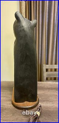 RARE 1996 Large Big Sky Carvers Vintage Bear Lamp