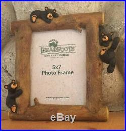 RARE BIG SKY CARVERS BEARFOOTS BEARS 3 BEAR PICTURE FRAME HOLDS 5 x 7 PHOTO