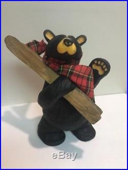 RARE Big Sky Carvers Bearfoots Bears Al Pine Skiing Bear Jeff Fleming