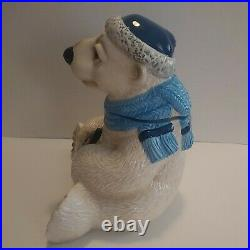 RARE Big Sky Carvers Brrr bears by Phyllis Driscoll Polar Bear Cookie Jar 11