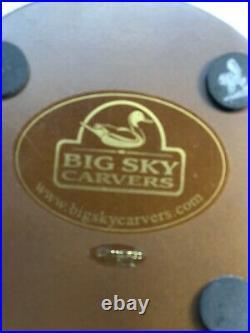 RARE Big Sky Carvers Silvertip Bear With Wood Platform