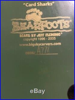 Rare BEARFOOTS Card Sharks By Jeff Fleming, Big Sky Carvers, Beautiful Detail