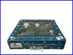 Rare BearFoots By Jeff Fleming Nutcracker Bear Ballet Ornament Set Of 6 Signed