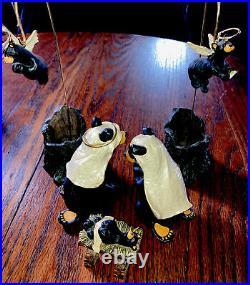 Rare Bear Foots Beartivity I Set Early # Jeff Fleming Nativity Figurines Bear