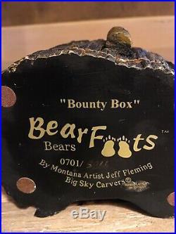 Rare Bearfoots Bear Big Sky Carvers Bounty Box By Jeff Fleming