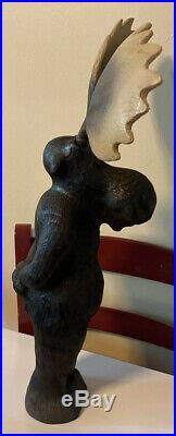 Rare Big Sky Carvers Jeff Fleming Wood Moose Sculpture