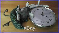 Rare Big Sky Carvers Mountain Mooses Phyllis Driscoll Moose Log Clock Bearfoots
