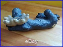 Rare Big Sky Carvers Wood Carved Maxwell Moose Vintage 1996 Sculpture