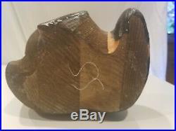 Rare Retired Big Sky Carvers Vintage Wood Emily Raccoon Cabin Bearfoots 12