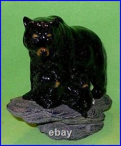 Retired BIG SKY CARVERS BEAR' Black Bear Mom & Cubs' sculpture. Montana design