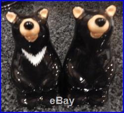Retired Big Sky Carvers Bearfoots Bears Salt And Pepper Shaker Set