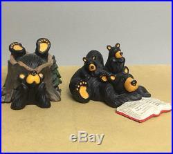 Set of 2 Vintage Jeff Fleming's Bearfoots Big Sky Carvers