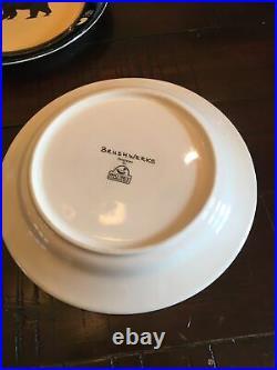 Set of 5 Big Sky Carvers Brushwerks Bear 8 1/2 salad dessert plate Dish Print