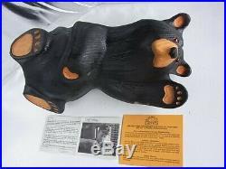 Usa Big Sky Carvers Montana Jeff Fleming Woodcarving Bear Figurine Mikey With