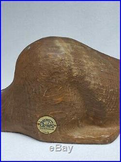Vintage 1996 Big Sky Carvers Large 16 Wood Beaver Scultpture Signed Jb