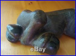 Vintage 1996 Big Sky Carvers Maxwell Moose Pine Wood Carved Statue
