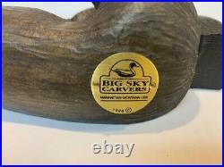 Vintage 1996 Big Sky Carvers Maxwell Moose Pine Wood Carved Statue A4