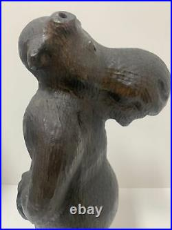 Vintage 1996 Big Sky Carvers Wood Pine Moose Sculpture Wooden Dark Brown