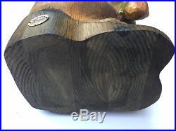 Vtg 1996 Big Sky Carvers Beaver Wood Sculpture